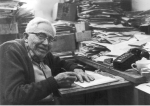 Clyde in his office. The contents have been archived in the NMSU library